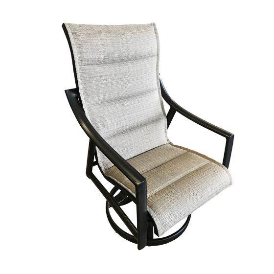 Stratford Padded Sling Swivel Rocker, Patio Furniture Swivel Rocker Chairs