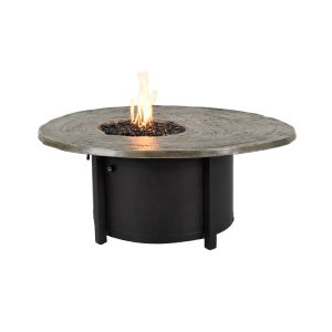 Nature's Wood Round Firepit Coffee Table