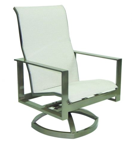 Park Place High Back Sling Lounge Swivel Rocker