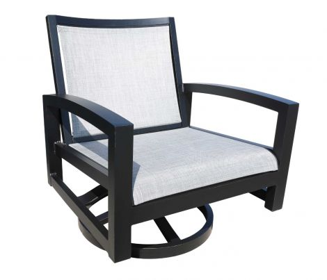 Millcroft Sling Swivel Lounge Chair