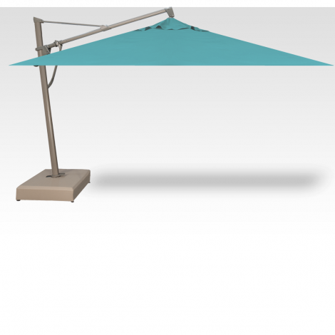 10' x 13' PLUS - Rectangle Cantilevered Umbrella - Aqua