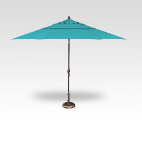 11' Auto Tilt Market Umbrella - Aqua