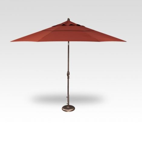 11' Auto Tilt Market Umbrella - Auburn