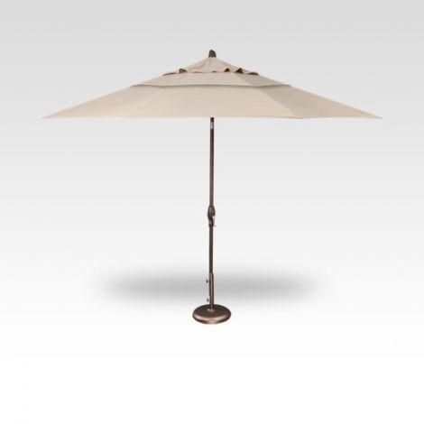 11' Auto Tilt Market Umbrella - Champagne