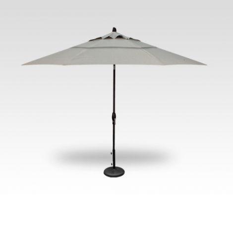 11' Auto Tilt Market Umbrella - Silver Linen