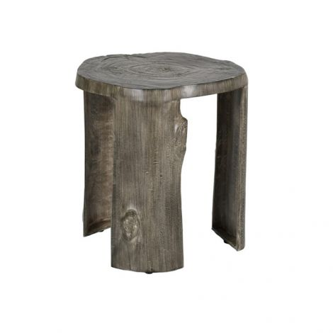 Nature's Wood Stump Leg Side Table - 17 Inch