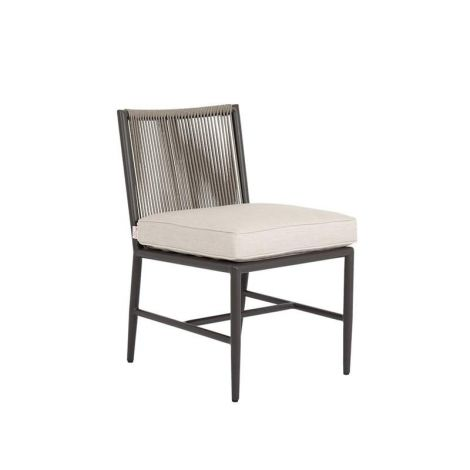 Pietra Woven Rope Armless Dining Chair