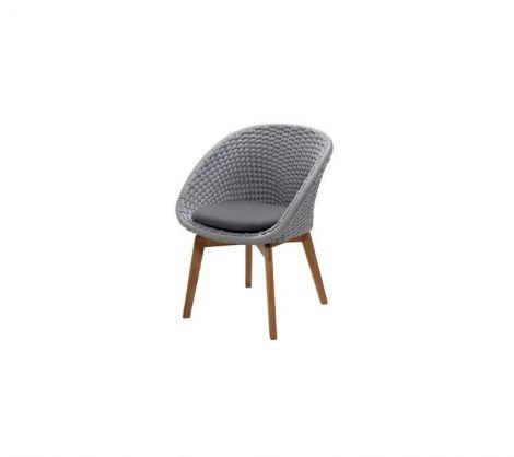 Peacock Woven Teak Dining Chair