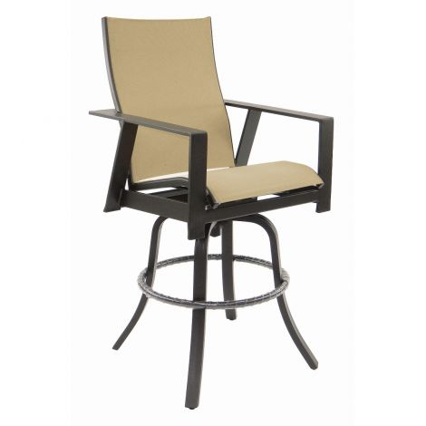 Trento Sling Swivel Bar Stool