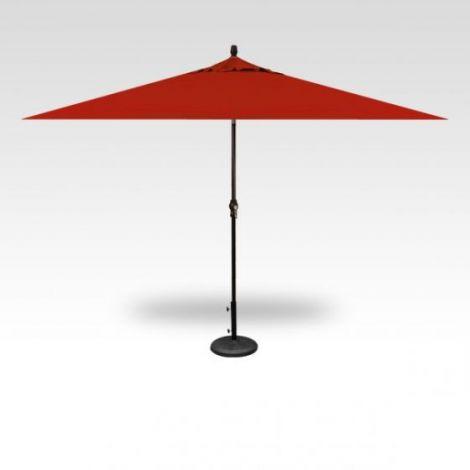 8' x 10' Auto Tilt Market Outdoor Patio Red Umbrella
