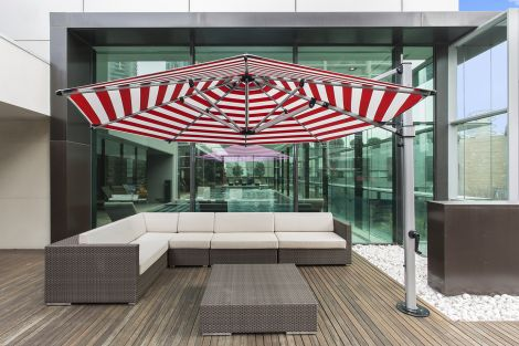 11' Octagon Aurora Cantilever Umbrella