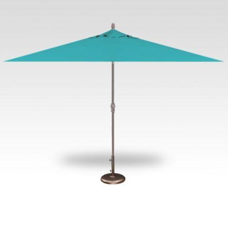 8' x 10' Auto Tilt Umbrella - Aqua