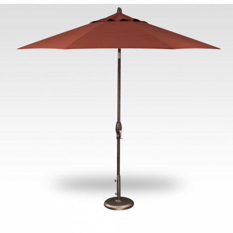 9' Auto Tilt Market Umbrella - Auburn