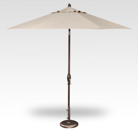 9' Auto Tilt Market Umbrella - Champagne