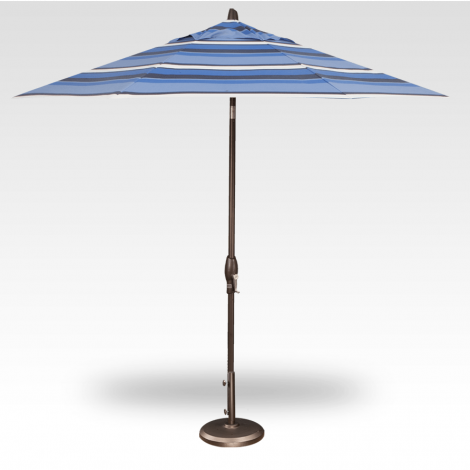 9' Auto Tilt Market Umbrella - Hampton Stripe