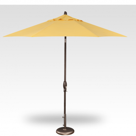 9' Auto Tilt Market Umbrella - Lemon