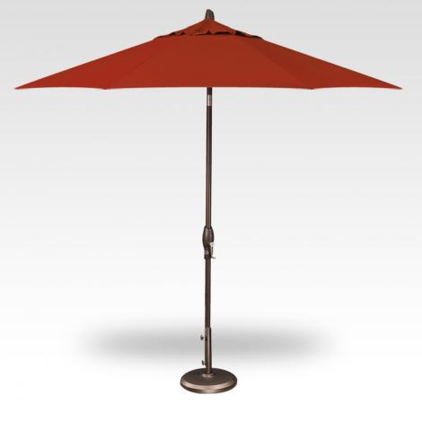 Button Tilt Market Umbrella - Red