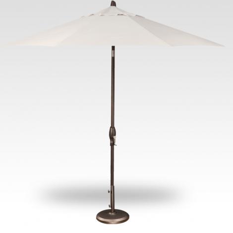 Button Tilt Market Umbrella - Vanilla