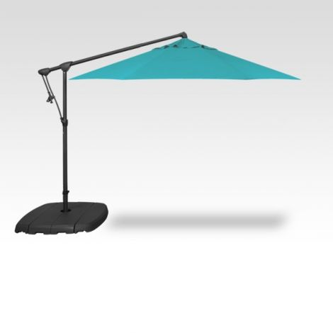 10' Octagon Cantilevered Umbrella - Aqua
