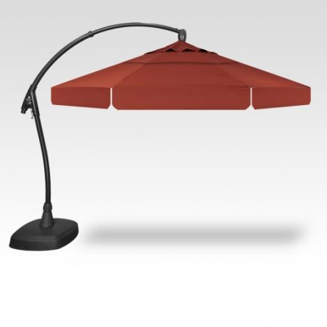11' Arch-Design Octagon Cantilevered Umbrella - Auburn