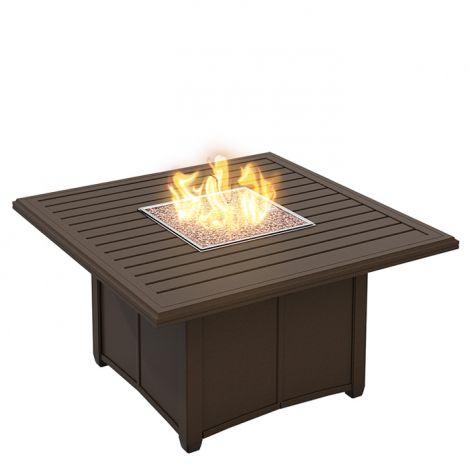 Banchetto Square Slat Aluminum Gas Firepit