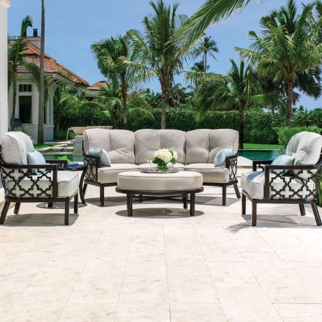 Belle Epoque 5-Piece Crescent Deep Seating Collection