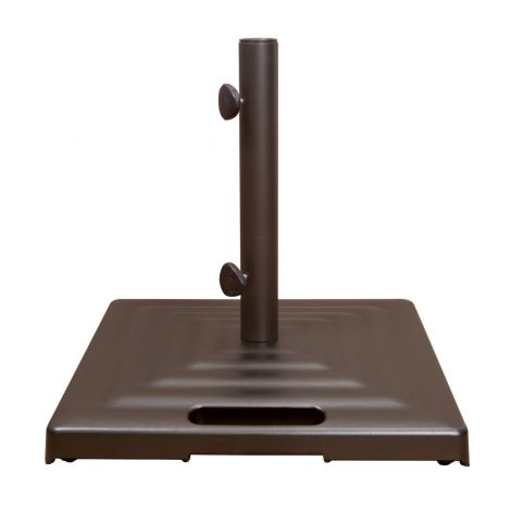 100 lb. Monaco Square Umbrella Base w/Wheels - Bronze