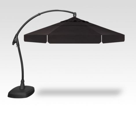 11' Arch-Design Octagon Cantilevered Umbrella - Black