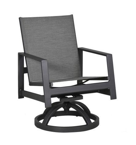 Prism Sling Swivel Rocker Dining Chair