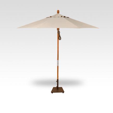 9' Wood Market Umbrella - Champagne