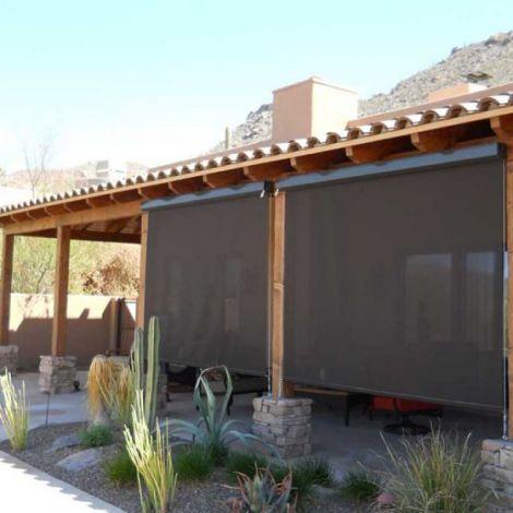 Exterior Retractable Window Roller Shades