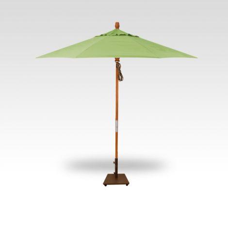 9' Wood Market Umbrella - Kiwi