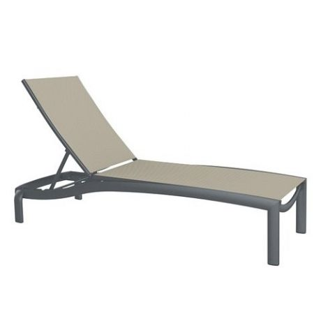 Kor Relaxed Sling Armless Chaise Lounge