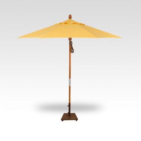 9' Wood Market Umbrella - Lemon