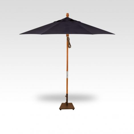 9' Wood Market Umbrella - Navy