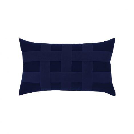 Basketweave Navy Lumbar
