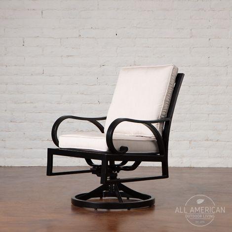 Palisades Cushion Swivel Rocker Dining Chair