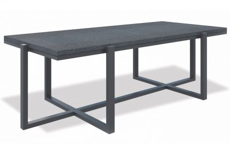 Rectangle Table with Honed Granite