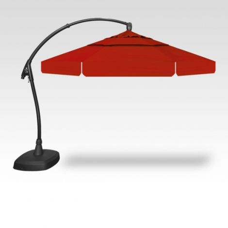 11' Arch-Design Octagon Cantilevered Umbrella - Red
