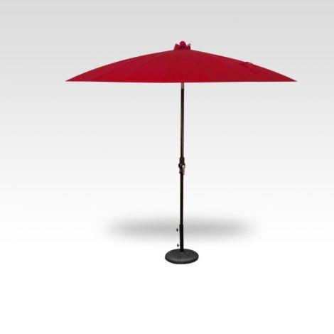 10' Shanghai Auto Tilt Umbrella - Red
