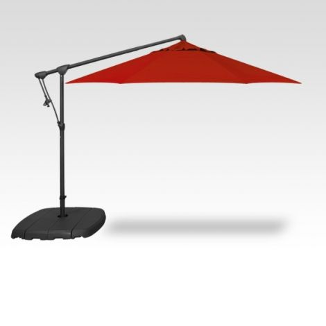 10' Octagon Cantilevered Umbrella - Red