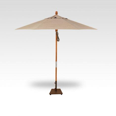 9' Wood Market Umbrella - Ridge Beach