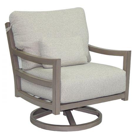 Roma Cushion Swivel Rocker Lounge Chair