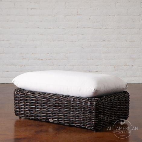 Roma Rectangle Ottoman w/ Cushion