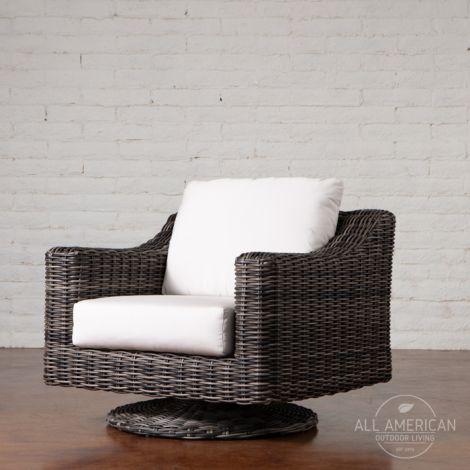 Roma Swivel Lounge Chair Rocker w/ Cushion