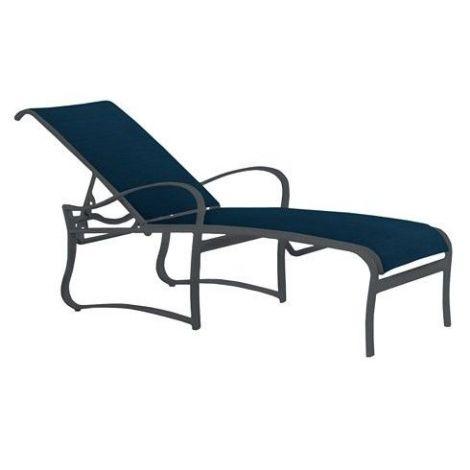 Shoreline Aluminum Sling Chaise Lounge Patio Chair