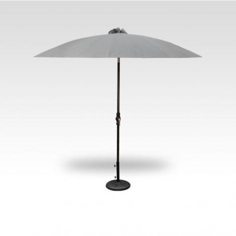 10' Shanghai Auto Tilt Umbrella - Silver Linen