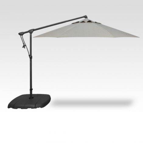 10' Octagon Cantilevered Umbrella - Silver Linen