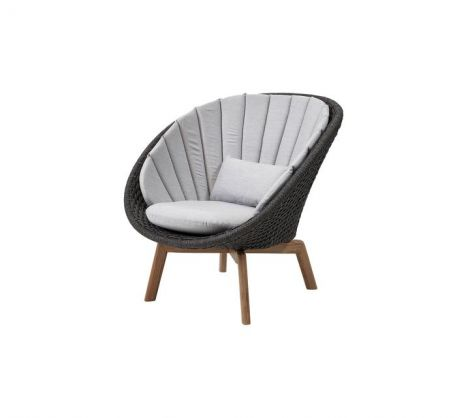 Peacock Woven Teak Lounge Chair