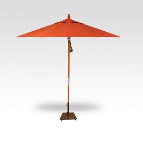 9' Wood Market Umbrella - Sunset